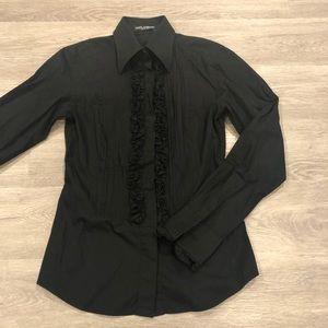 Dolce & Gabbana Long Sleeve Button Down Blouse 42